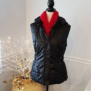 SALE Black Quilted Vest, New York and Company,  XL